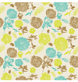 Vintage Flowers Seamless Pattern vector image