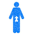 male potence grunge icon vector image