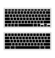 Computer Keyboard Blank Template Set vector image