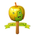 Candy apple character Cartoon vector image