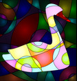 abstract colored bird vector image vector image