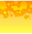 Abstract orange and yellow round bubbles vector image vector image