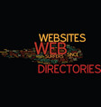 are web directories any good text background word