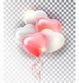 balloon pink heart set symbol of love gift vector image vector image