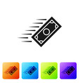 black fast payments icon on white background fast vector image vector image