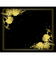 black floral card with gold decorations vector image vector image