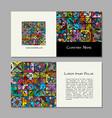 book cover design ethnic vintage ornament vector image