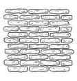 brick wall sketch engraving vector image