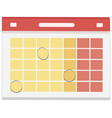 calendar day graphic template empty space vector image vector image