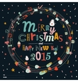 Christmas and New Year greeting wreaths vector image