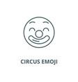 circus emoji line icon circus emoji vector image vector image