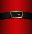 coat and belt santa claus vector image