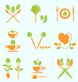 Collection of Labels Healthy Eating vector image