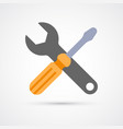 colored wrench and screwdriver trendy symbol vector image