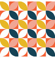 colorful geometric seamless pattern mid century vector image