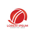 cricket sport logo design template vector image vector image