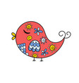 cute ornamental bird isolated element funny vector image vector image