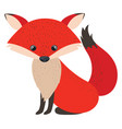 cute red fox on white background vector image vector image