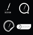 design icon in black and white vector image vector image