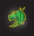 dragon head - mascot logo esport design vector image vector image