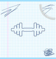 dumbbell line sketch icon isolated on white vector image