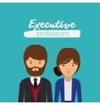 executive couple design vector image