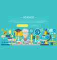 flat design concept science horizontal banner vector image vector image