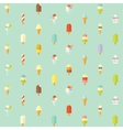 Flat seamless pattern with ice creams vector image vector image