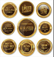 gold and brown badges collection vector image vector image