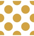 Golden seamless pattern with circles vector image