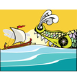 Greek ship and sea monster vector | Price: 1 Credit (USD $1)