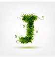 Green eco letter J for your design vector image