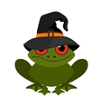 Halloween frog mascot on white background vector image vector image