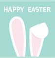 happy easter rabbit bunny ears hidden head face vector image vector image