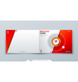 horizontal cover template horizontal red template vector image vector image