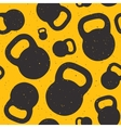 Kettle bell seamless pattern vector image
