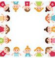kids frame vector image vector image