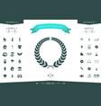 laurel wreath for yor design vector image vector image