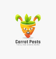 logo carrots pests gradient colorful style vector image