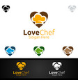 love chef food logo for restaurant or cafe vector image vector image