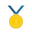 medal icon in flat style vector image vector image