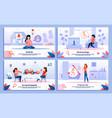 pregnant woman health feelings banners set vector image vector image