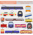 Public transportation infographics Tram trolleybus vector image vector image