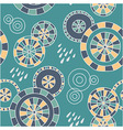 Rain in Kyoto - seamless pattern vector image