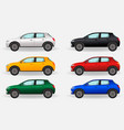 realistic cars isolated on a white background vector image vector image