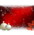 red christmas background with beige balls vector image vector image
