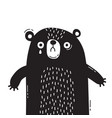 sad frightened bear cub is crying concept of vector image