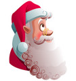 santa claus head profile view look up christmas vector image vector image