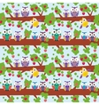 seamless pattern set bright colorful owls on the vector image vector image