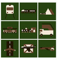 set of icons in flat design freight and passenger vector image vector image